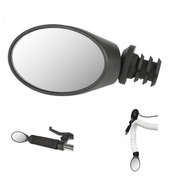M-Wave Fahrradspiegel Rennrad Oval 80x50 mm schwarz