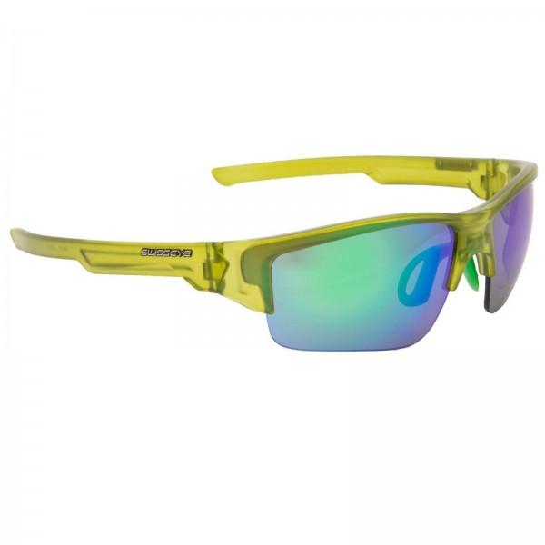 Swisseye Sonnenbrille Secret Rahmen crystal green matt / Polycarbonatscheiben m. Wechselscheiben