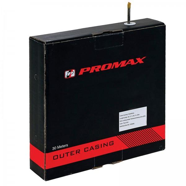 Promax Brems-Bowdenzughülle 5mm schwarz m. Innengleithülle