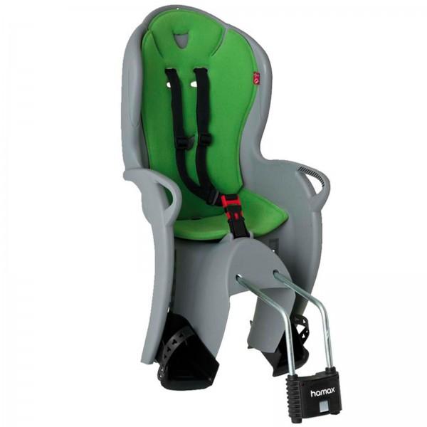 Hamax Kindersitz Kiss grau/grün Rahmenrohrbefestigung