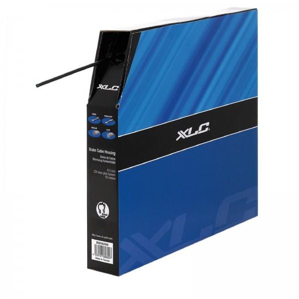 XLC Bremsaussenhülle mit Endkappen schwarz m. Polymer Innenhülle