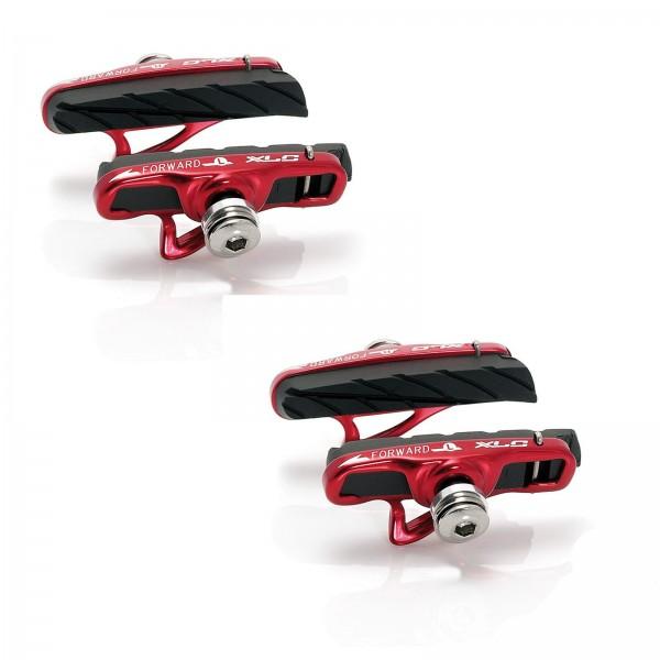 XLC Rennrad Bremsschuhe Cartridge BS-R06 2 PAAR 55mm rot/schwarz