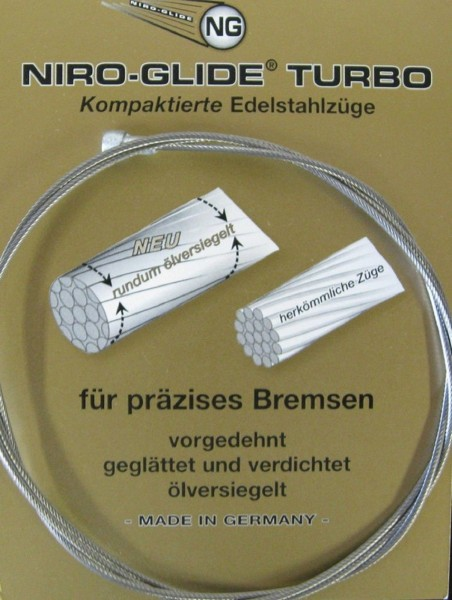 NG Bremsseil NIRO 1,5x2050mm Birnennippel EVP