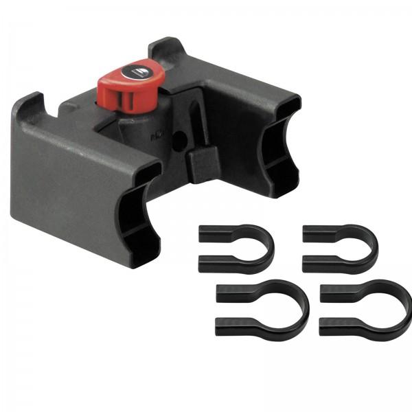 KLICKFIX Adapter/Halter 22-26mm und 31,8mm schwarz abschließbar