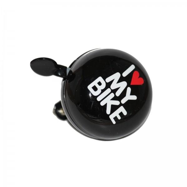 Glocke Ding - Dong I Love my Bike 60 mm schwarz