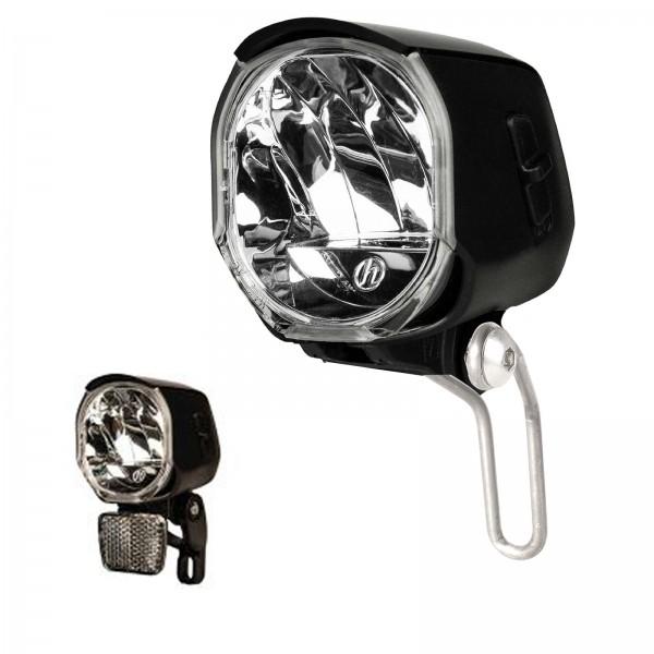 Herrmans LED Scheinwerfer 40-Lux H-Flow Schalter/Standlicht schwarz