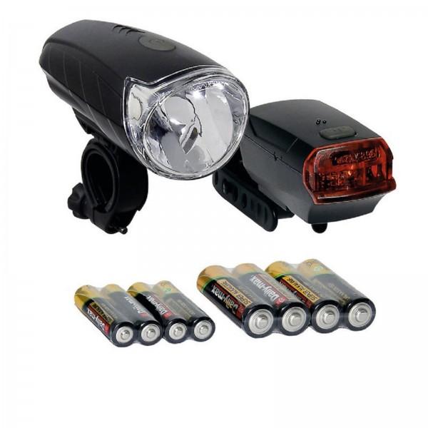Büchel Batterieleuchtenset Sunrise schwarz STVZO incl. Batterien