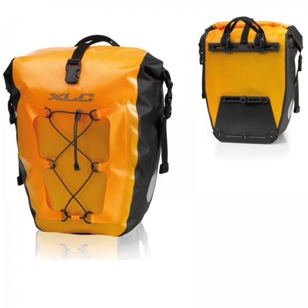 XLC Einzelpacktaschenset wasserdicht 21x18x46cm gelb