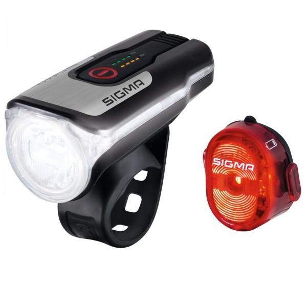 Sigma LED Akku Beleuchtungs Set Aura 80 USB   Nugget II schwarz