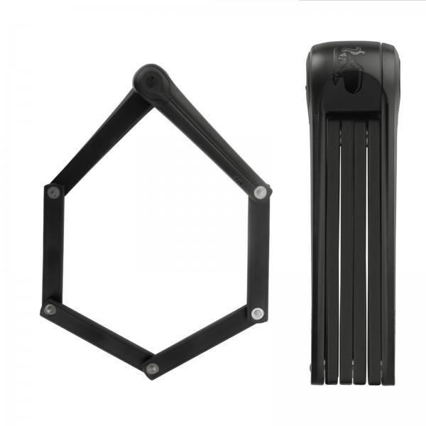 AXA Faltschloss Fold 100 schwarz m. Kastenhalter