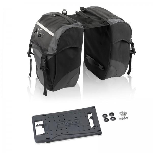 XLC System Doppelpacktasche carry more BA-S63 30 ltr. schwarz/anthrazit