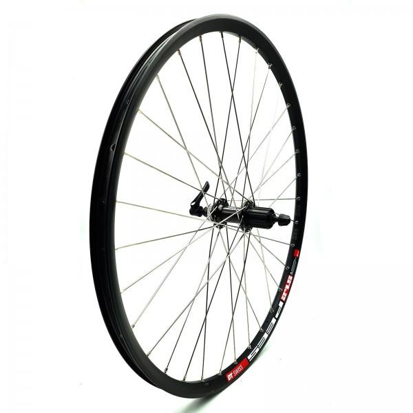 """Hinterrad Laufrad 27,5"""" DT Swiss 533D schwarz/Deore 8/9/10-f. QR schwarz/Niro silber"""