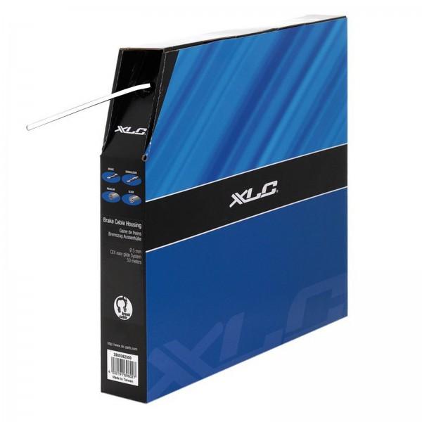 XLC Bremsaussenhülle mit Endkappen weiß m. Polymer Innenhülle