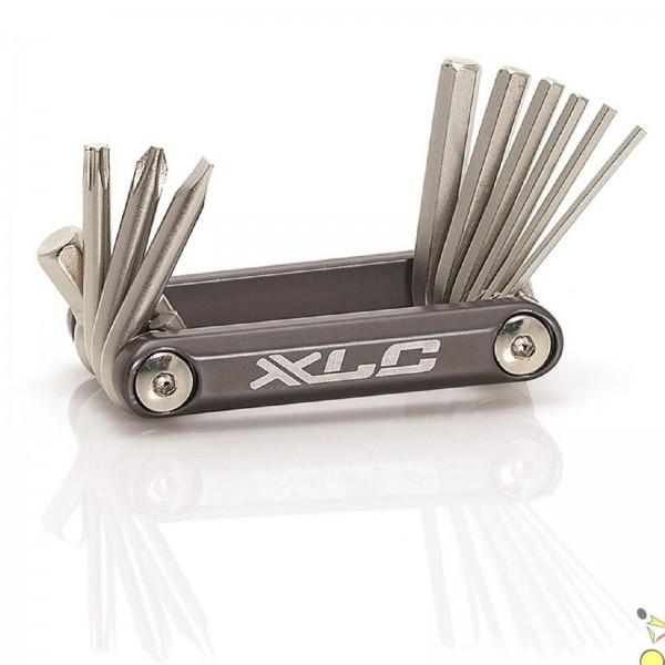 XLC Fahrrad Miniwerkzeug TO-M06 10-teilig