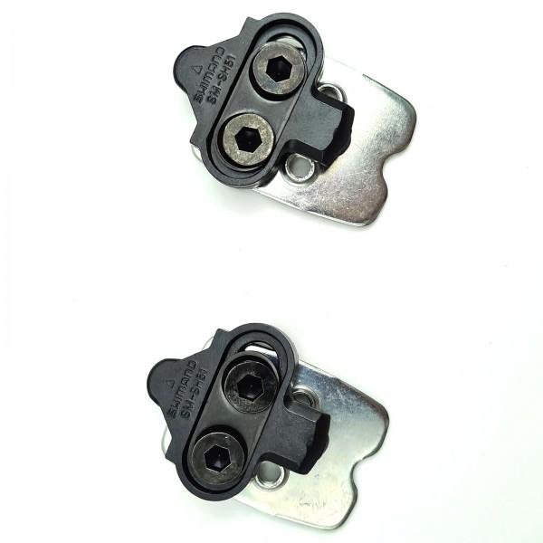 Shimano Schuhplatten SPD SM-SH51 einfach mit Gegenplatte