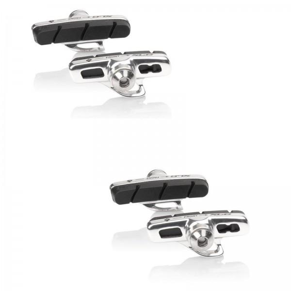 XLC Rennrad Bremsschuhe Cartridge BS-R07 50mm Campagnolo silber/schwarz 2 PAAR