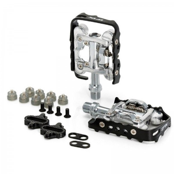 XLC MTB/Trekking-System-Pedal PD-S02 einseitig, schwarz/silber