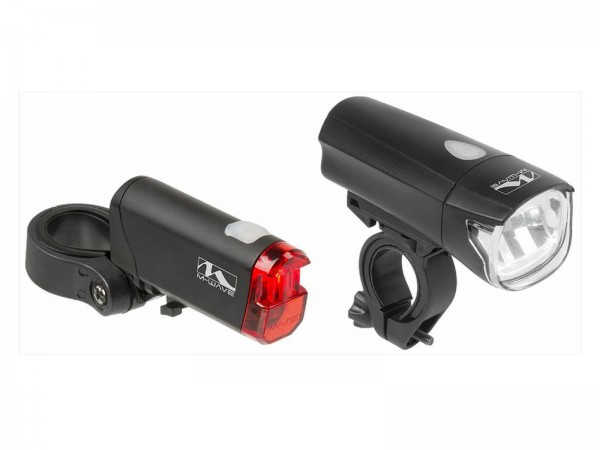 M-Wave LED-Batterie-Beleuchtungs-Set Atlas K 50 30-Lux