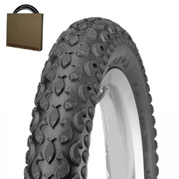 Kenda Kinder Fahrrad Reifen K-921 12 1/2x2 1/4   62-203 Fisch schwarz