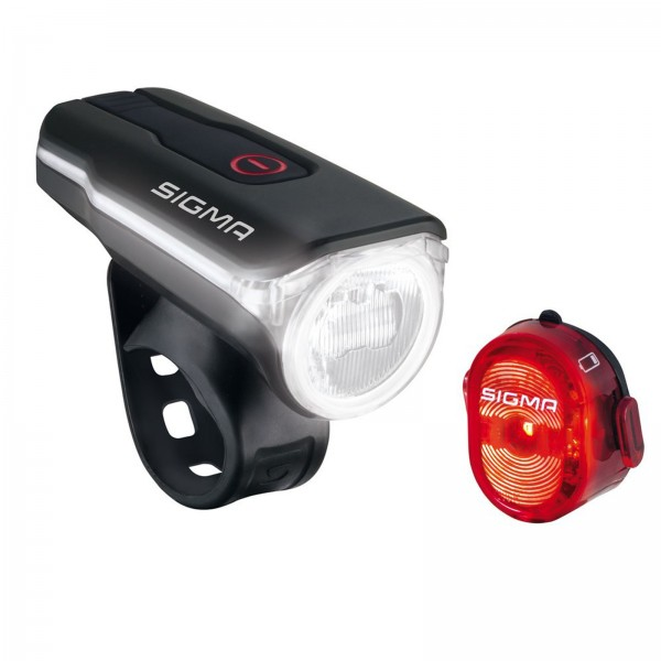 Sigma LED Akku Beleuchtungs Set Aura 60 USB/Nugget II schwarz