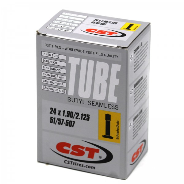 CST Schlauch 24 Zoll Silver 24x1.90-2.125 | 51/57-507 Autoventil 40mm