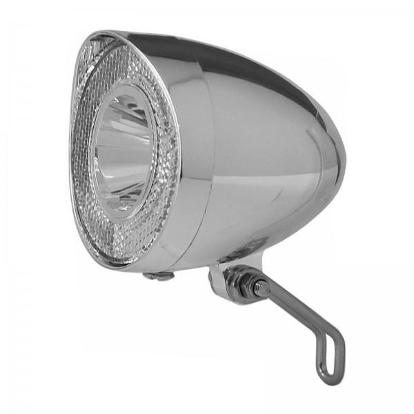 UNION LED-Scheinwerfer Nostalgie chrom f. Nabendynamo