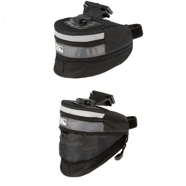 M-WAVE Satteltasche TILBURG L mit Clip-On-Halter, schwarz