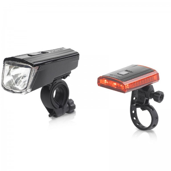 XLC Akku-LED-Lichtset Comp Titania schwarz