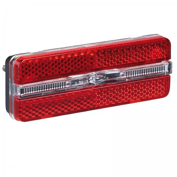 Büchel LED Rücklicht Sunset Strip m. Standlicht für Gepäckträger 80mm