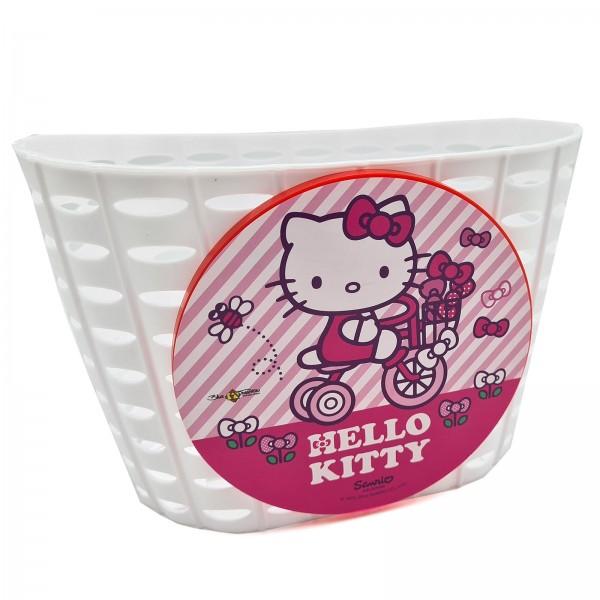 Kinder Fahrradkorb Vorne Hello Kitty PVC weiß