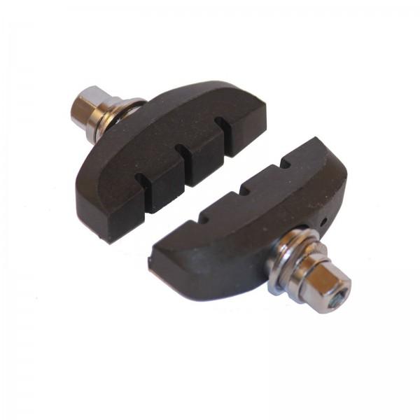 Bremsschuh U-Brake schwarz, mit Gewinde (Satz a 2 Stück)
