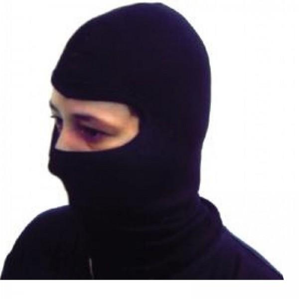 Sturmhaube Baumwolle schwarz