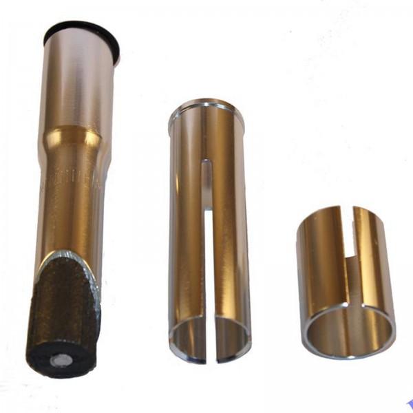 """Import Ahead-Adapter-Schaft 1"""" > 1 1/8"""" Alu 135mm silber"""