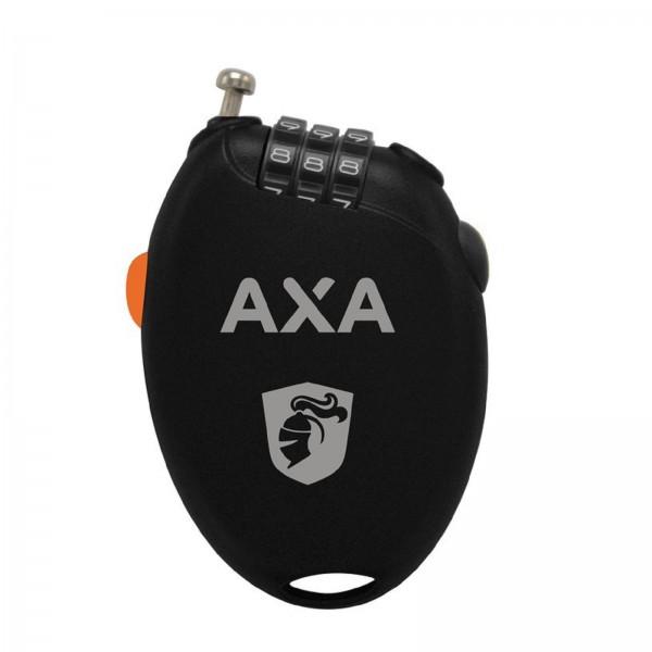 AXA Roll-Kabelschloss schwarz 1,6mm 75cm
