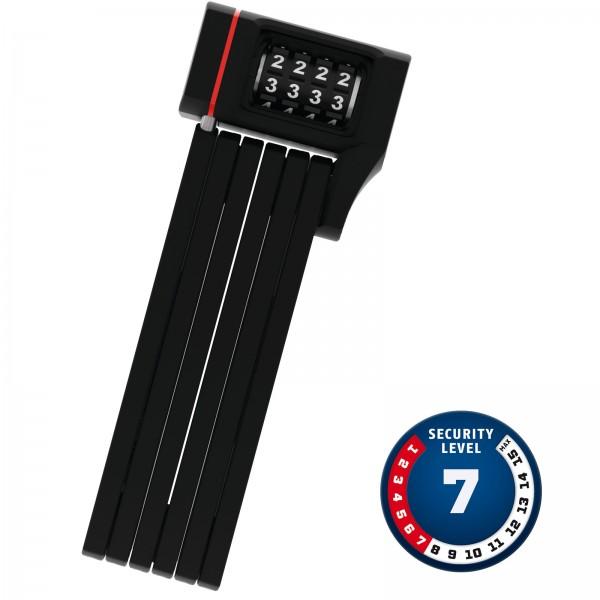 ABUS Faltschloss mit Zahlencode Bordo uGrip 5700C/80 schwarz Level7