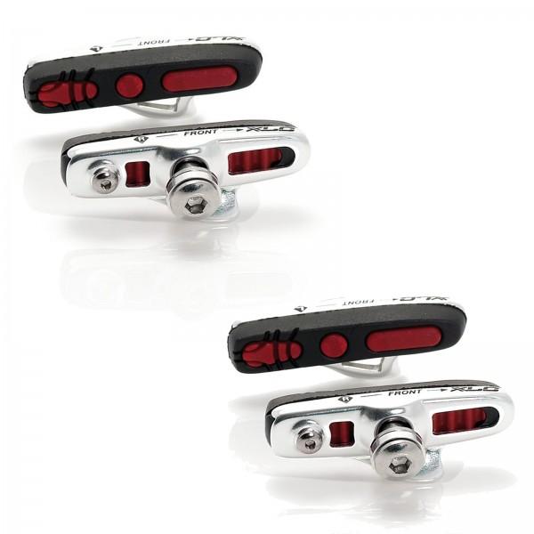 XLC Rennrad Bremsschuhe Cartridge BS-R04 55mm ABS silber/schwarz/rot 2-Paar