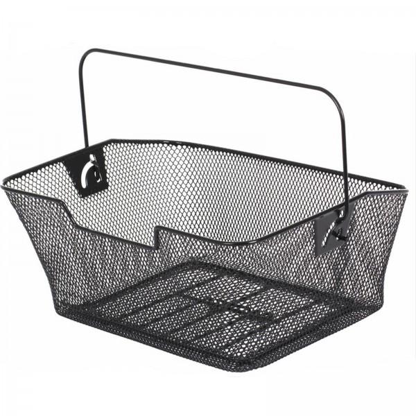 Korb Basic PVC engmaschig abgeschrägt schwarz