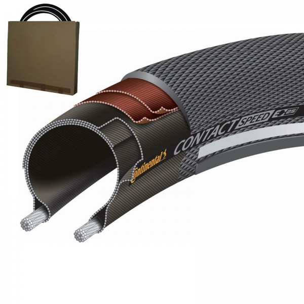 Continental Reifen Contact Speed 26x1.30 schwarz Reflex