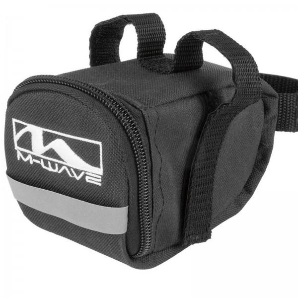 M-WAVE Satteltasche Klettverschluß klein/S schwarz