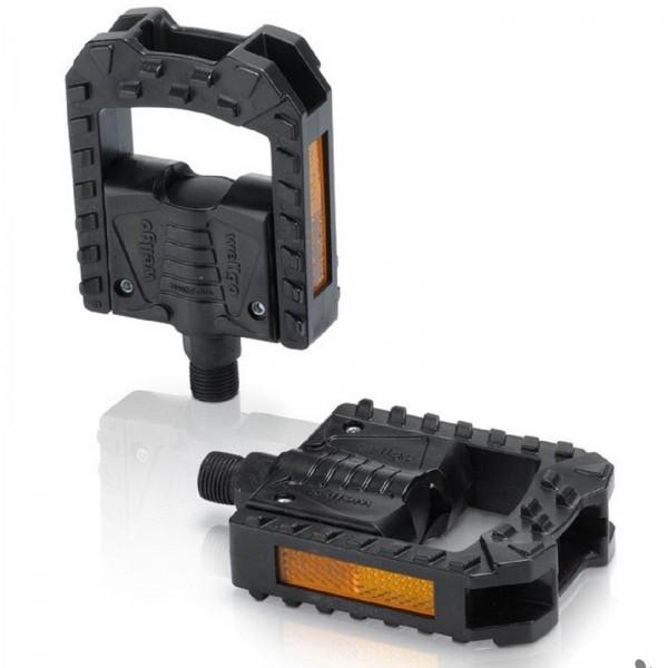 XLC Faltpedale PD-F01 Kunststoff schwarz Reflektor