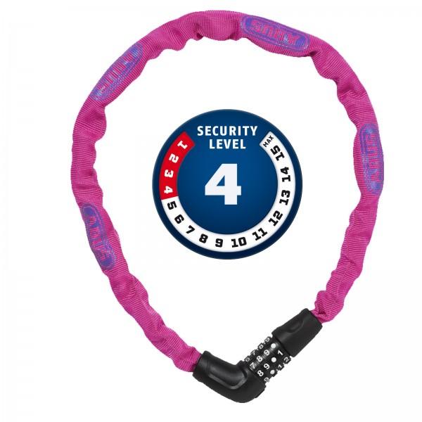 ABUS Zahlen-Kettenschloss Steel-O-Chain 5805C/75 pink 5x750mm Level4